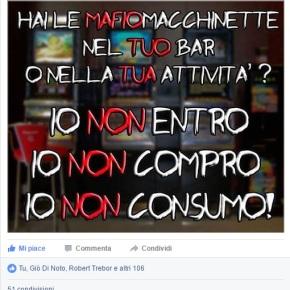 Reazione all'invito di boicottare le mafiomacchinette e chi specula sulla vita altrui? VIOLENZA E OFFESEGRATUITE!!!