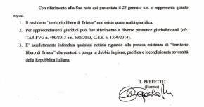 Secondo il prefetto Annapaola Porzio il TERRITORIO LIBERO DI TRIESTE NON ESISTE!! E con i trattati internazionali ci PULIAMO ILCULO??