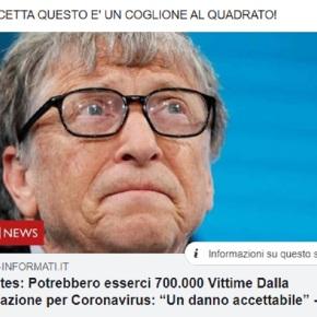 Bill Gates definisce danno accettabile la morte di 700.000 vaccinati contro ilcovid19!